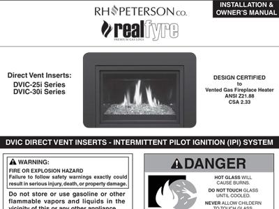 DVIC Direct Vent Instructions (IPI) Contemporary